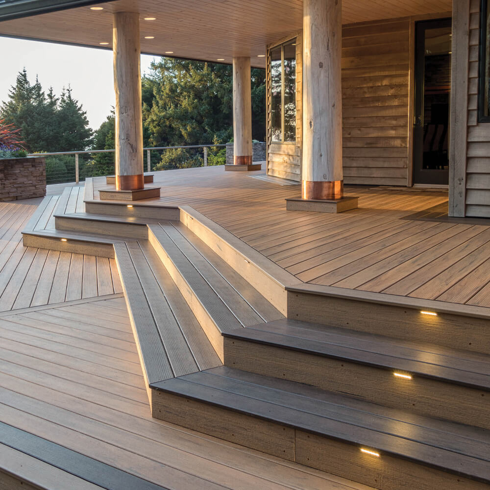 beautiful picture of a custom made deck made with product purchased from dillman and upton